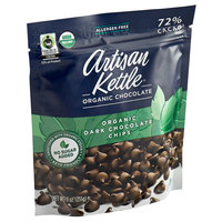 Artisan Kettle 9 oz. Organic No Sugar Added Dark .9M Chocolate Chips - 6/Case