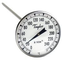 Taylor 8238J 8 inch Superior Grade Instant Read Probe Dial Thermometer 0 to 250 Degrees Celsius