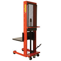 Wesco Industrial Products 260032 Standard Series 1000 lb. Hydraulic Platform Stacker with 24 inch x 24 inch Platform and 60 inch Lift Height