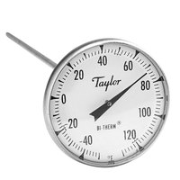 Taylor 6211J 8 inch Superior Grade Instant Read Probe Dial Thermometer -40 to 120 Degrees Fahrenheit