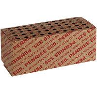 8 1/4 inch x 4 inch x 3 1/2 inch Coin Storage Box - $25, Pennies   - 50/Case