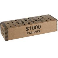 11 3/4 inch x 4 1/2 inch x 3 inch Coin Storage Box - $1000, Dollars   - 50/Case