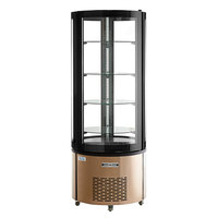 Avantco BCR-15-HC Rose Gold Circular Glass Refrigerated Display Case