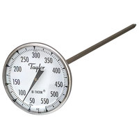 Taylor 6220J 8 inch Superior Grade Instant Read Probe Dial Thermometer 50 to 550 Degrees Fahrenheit