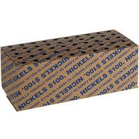 9 1/8 inch x 4 1/2 inch x 3 1/2 inch Coin Storage Box - $100, Nickels   - 50/Case