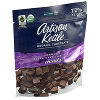 Artisan Kettle 9 oz. Organic Extra Dark .7M Chocolate Chunks - 6/Case