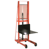 Wesco Industrial Products 260046 Economy Series 1000 lb. Hydraulic Platform Stacker with 24 inch x 24 inch Platform and 80 inch Lift Height