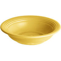 Acopa Capri 4.5 oz. Citrus Yellow China Fruit Bowl / Monkey Dish - 12/Pack