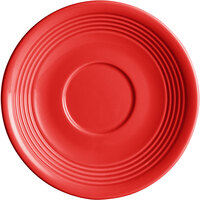 Acopa Capri 6 inch Passion Fruit Red China Saucer - 12/Pack