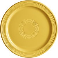 Acopa Capri 10 inch Citrus Yellow China Plate - 12/Case