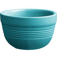 Acopa Capri 8 oz. Caribbean Turquoise China Bouillon - 12/Pack