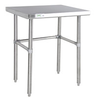 Regency 30 inch x 36 inch 14-Gauge 304 Stainless Steel Commercial Open Base Work Table