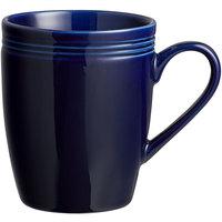 Acopa Capri 12 oz. Deep Sea Cobalt China Mug - 24/Case