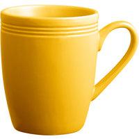 Acopa Capri 12 oz. Mango Orange China Mug - 24/Case
