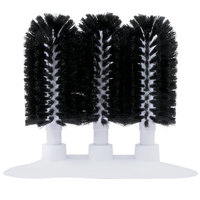 """8"""" Manual Triple Bar Glass Washer With Black Bristle Brushes"""