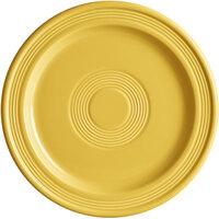 Acopa Capri 9 inch Citrus Yellow China Plate - 12/Case