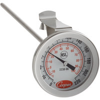 Cooper-Atkins 2238-06-3 8 inch Instant Read Probe Dial Thermometer, 0 to 220 Degrees Fahrenheit
