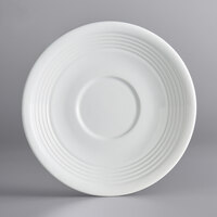 Acopa Capri 6 inch Coconut White China Saucer - 36/Case