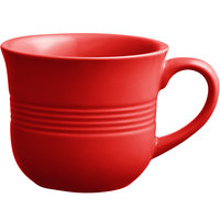 Acopa Capri 8 oz. Passion Fruit Red China Cup - 12/Pack