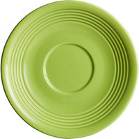 Acopa Capri 6 inch Bamboo Green China Saucer - 36/Case