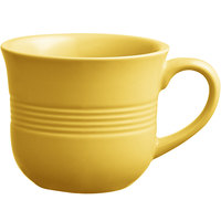 Acopa Capri 8 oz. Citrus Yellow China Cup - 36/Case