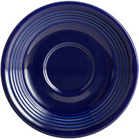 Acopa Capri 6 inch Deep Sea Cobalt China Saucer - 36/Case