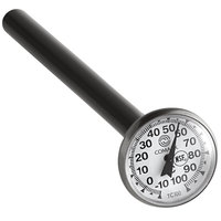Comark TC100A 5 inch Pocket Probe Dial Thermometer -10 to 100 Degrees Celsius
