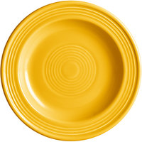 Acopa Capri 6 1/8 inch Mango Orange China Plate - 24/Case