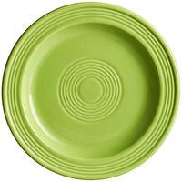 Acopa Capri 7 inch Bamboo Green China Plate - 12/Pack