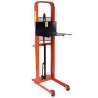 Wesco Industrial Products 260033 Standard Series 1000 lb. Hydraulic Platform Stacker with 24 inch x 24 inch Platform and 68 inch Lift Height