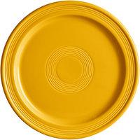 Acopa Capri 10 inch Mango Orange China Plate - 12/Case