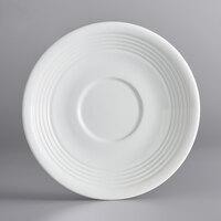 Acopa Capri 6 inch Coconut White China Saucer - 12/Pack