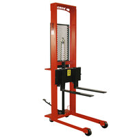 Wesco Industrial Products 260041 Standard Series 1000 lb. Straddle Fork Stacker with 30 inch Forks and 56 inch Lift Height