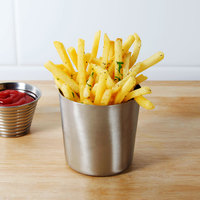 American Metalcraft FFC337 3 3/8 inch Satin Stainless Steel French Fry Cup