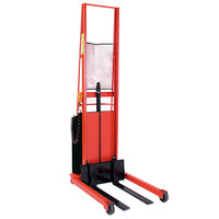 Wesco Industrial Products 261033 1000 lb. Power Lift Straddle Fork Stacker with 30 inch Forks and 76 inch Lift Height