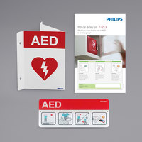 Philips 861478 AED Awareness Sign Bundle