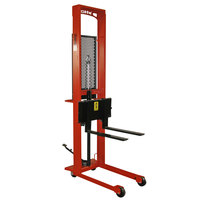 Wesco Industrial Products 260037 Standard Series 1000 lb. Fork Stacker with 25 inch Forks and 76 inch Lift Height