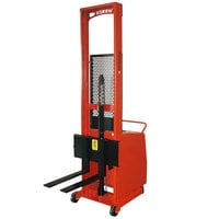 Wesco Industrial Products 261039 1000 lb. Counter Balance Powered Stacker with 76 inch Lift Height