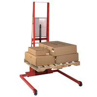 Wesco Industrial Products 260075 1000 lb. Wide Straddle Fork Stacker with 30 inch Forks and 56 inch Lift Height