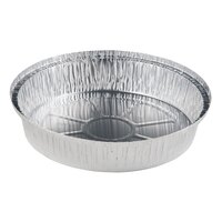9 inch Round Foil Take-Out Pan with Board Lid - 200 / Case