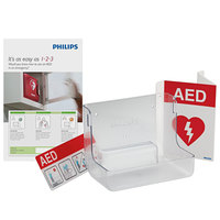 Philips 861477 AED Awareness Sign and Wall Bracket Bundle