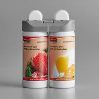 Rubbermaid 3485952 Microburst Duet Cotton Berry / Refreshing Citrus Metered Aerosol Air Freshener System Refill