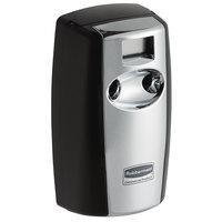 Rubbermaid FG4870055 Microburst Duet Black / Chrome Metered Aerosol Air Freshener System