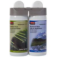 Rubbermaid 3485950 Microburst Duet Alpine Spring / Mountain Peaks Metered Aerosol Air Freshener System Refill