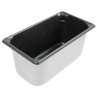 Vollrath 70362 Super Pan V® 1/3 Size 6 inch Deep Anti-Jam Stainless Steel SteelCoat x3 Non-Stick Steam Table / Hotel Pan - 22 Gauge