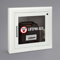 Physio-Control 11210-000026 Semi-Recessed Mount Fire-Rated AED Cabinet with Alarm