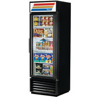True GDM-19T-F-LD Black Glass Door Merchandiser Freezer with LED Lighting - 19 Cu. Ft.