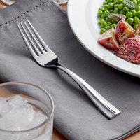 Acopa Ridge 7 1/8 inch 18/0 Stainless Steel Heavy Weight Dinner Fork - 12/Case