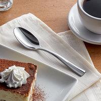 Acopa Ridge 7 inch 18/0 Stainless Steel Heavy Weight Dinner / Dessert Spoon - 12/Case