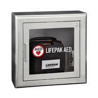 Physio-Control 11220-000076 Surface Mount Stainless Steel AED Cabinet with Alarm